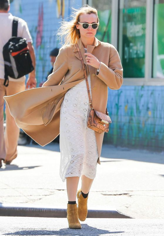 Diane Kruger Casual Style - Out in NYC, April 2015