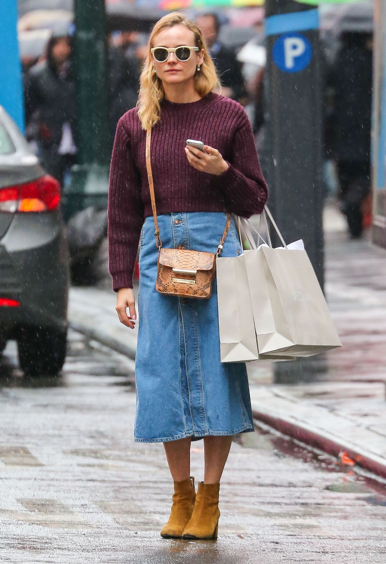 diane kruger street style out shopping in new york