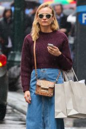 Diane Kruger Street Style - Out Shopping in New York, April 2015