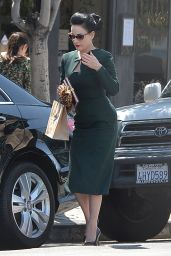 Dita Von Teese Style - Out in Los Angeles, April 2015