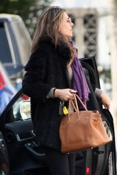 Elizabeth Hurley Casual Style - Out in London, April 2015