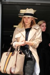 Elizabeth Olsen at London Heathrow Airport, April 2015
