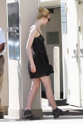 Elle Fanning - Going to the Dermatologist in Beverly Hills, April 2015