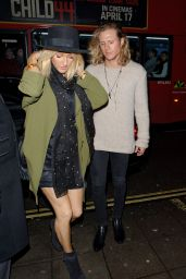 Ellie Goulding Night Out Style - London, April 2015