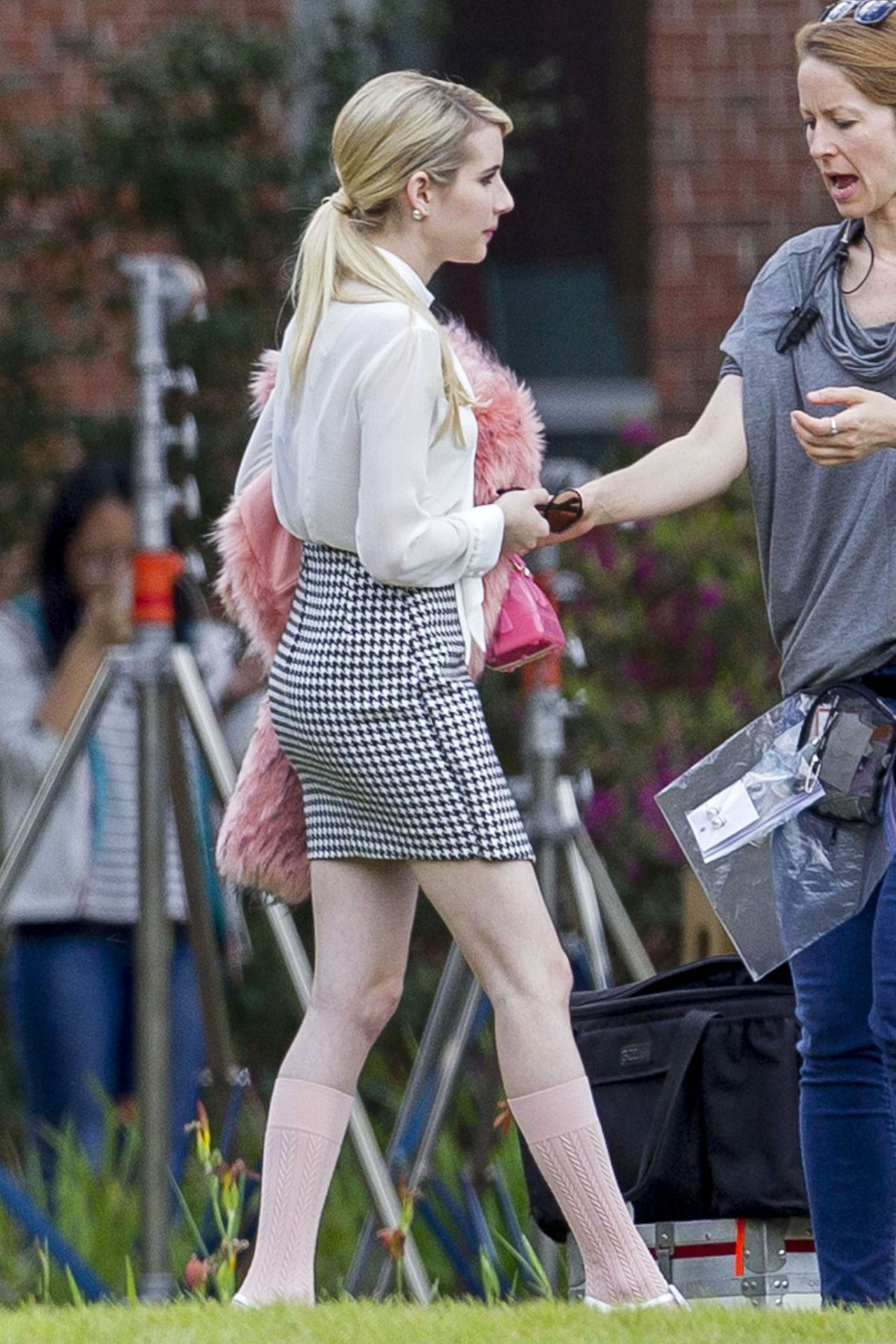 Emma Roberts – Behind the Scenes at Scream Queens – New Orleans, March 2015