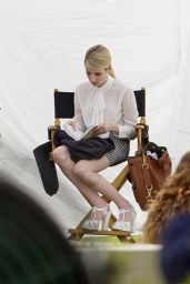 Emma Roberts - Behind the Scenes at Scream Queens - New Orleans, March 2015