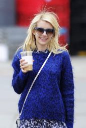 Emma Roberts Casual Style - Out New York City, April 2015