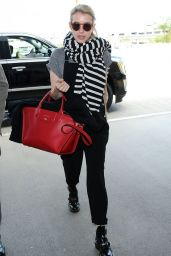 Emma Roberts Style - at LAX Airport, April 2015