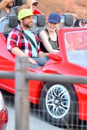 Emma Stone at Disneyland in Anaheim, April 2015
