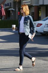 Emma Stone in Tight Jeans - Out in Brentwood, April 2015