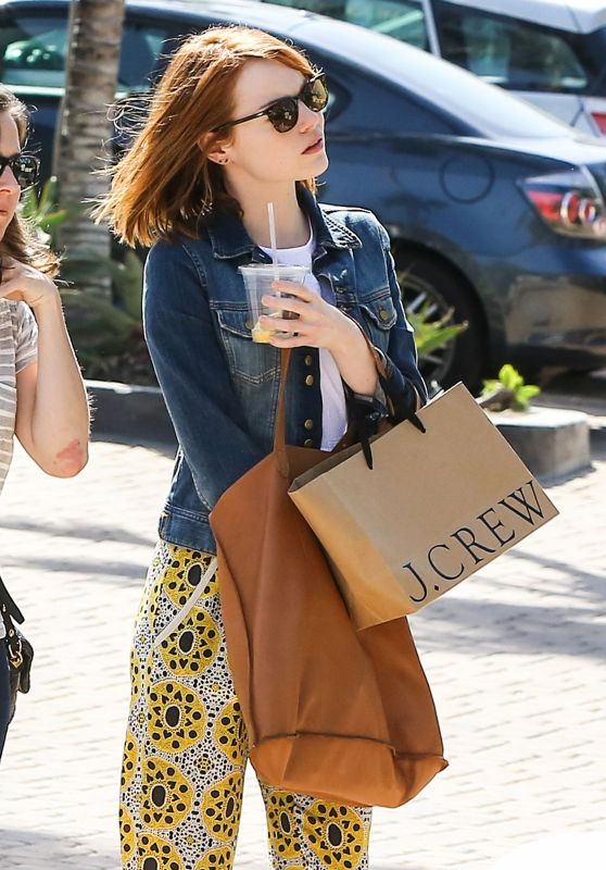 Emma Stone - Shopping in Los Angeles, April 2015