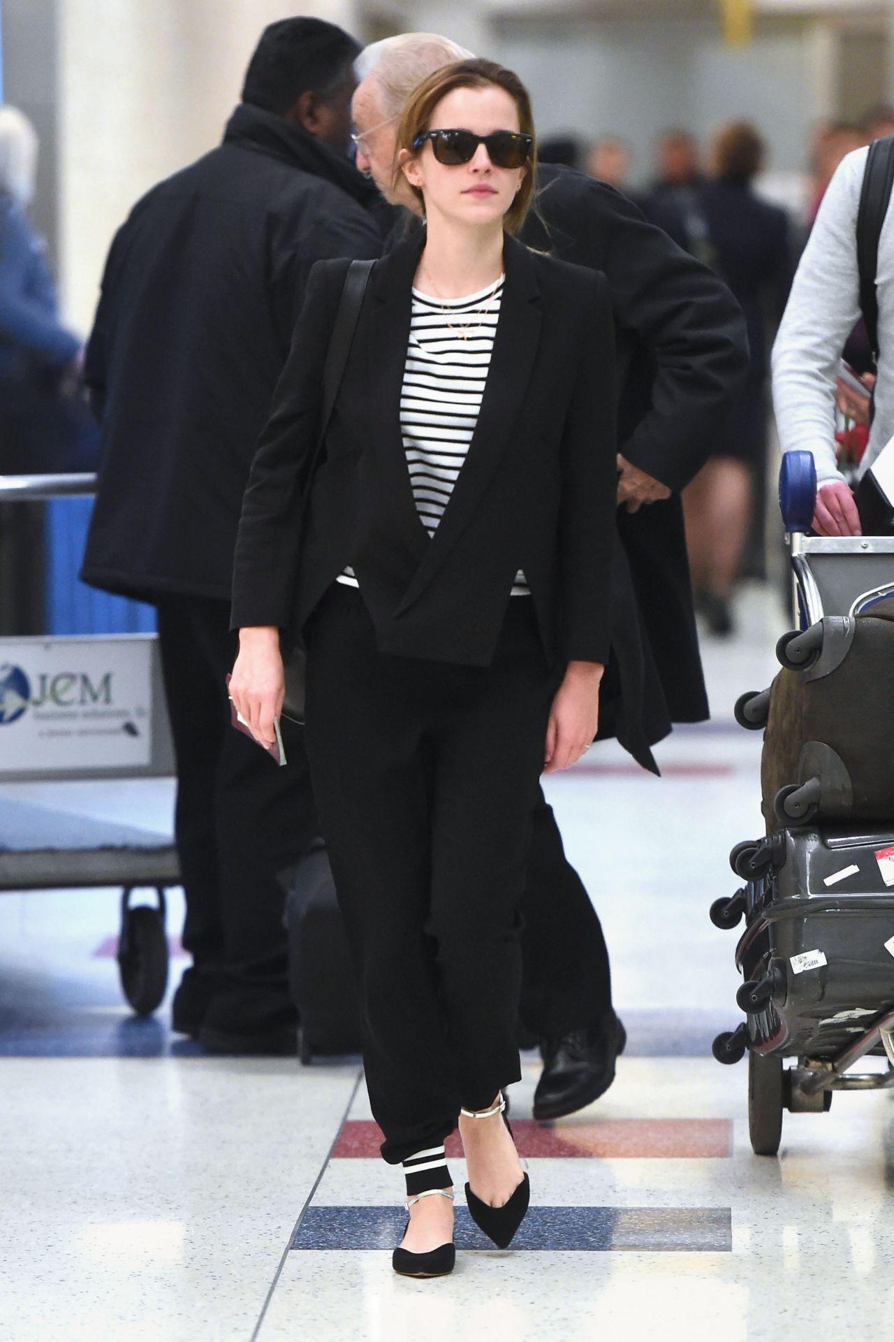 Emma Watson - JFK Airport in New York City, April 2015