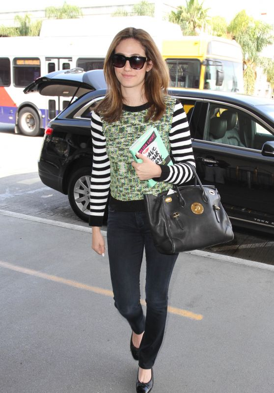 Emmy Rossum at LAX Airport, April 2015