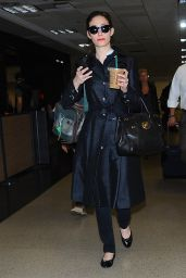 Emmy Rossum Style - LAX Airport, April 2015