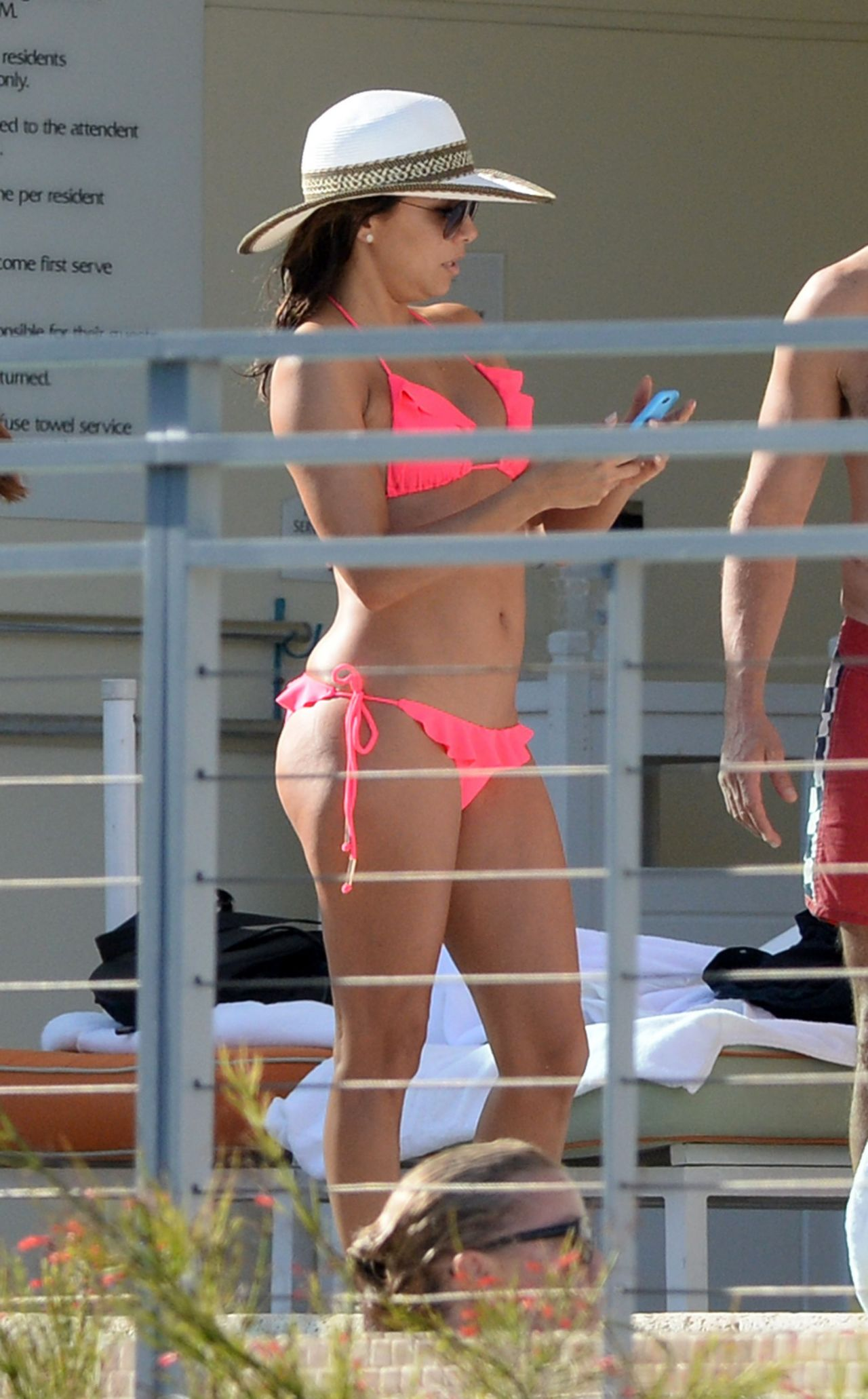 Eva Longoria Bikini Candids Poolside In Miami April 2015