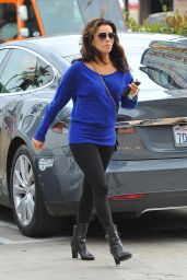Eva Longoria in Leggings - Leaving a Salon in Los Angeles, April 2015