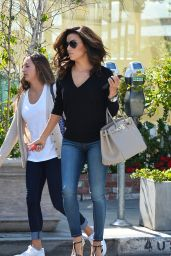 Eva Longoria - Leaving Ken Paves Salon in West Hollywood, April 2015