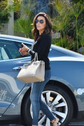 Eva Longoria - Leaving Ken Paves Salon in West Hollywood, April 2015