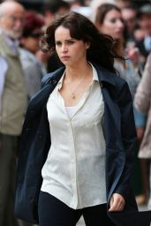 Felicity Jones on the Set of
