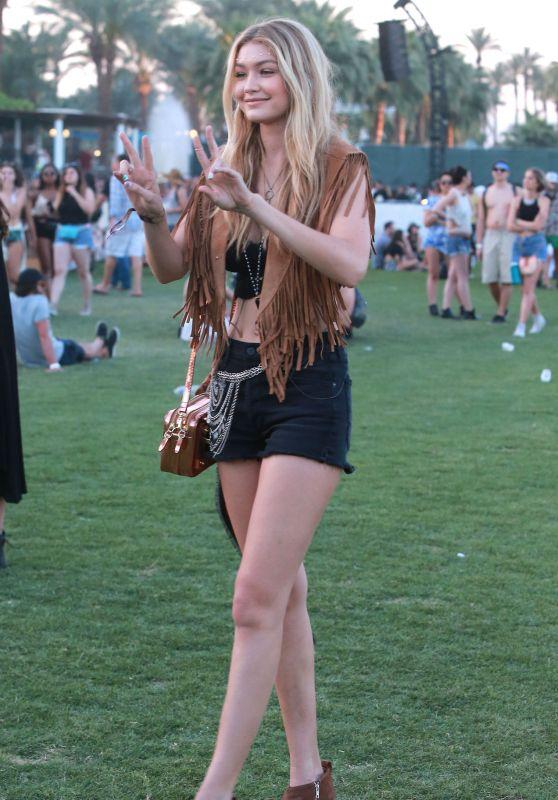 Gigi Hadid – 2015 Coachella Music Festival, Day 2, Empire Polo Grounds, Indio