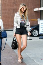 Gigi Hadid Leggy in Shorts - Out in Beverly Hills, April 2015