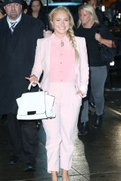 Hayden Panettiere - Arriving to Appear on Good Morning America in NYC, April 2015