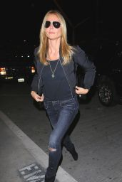 Heidi Klum Casual Style - Departing on a Flight at LAX Airport, April 2015