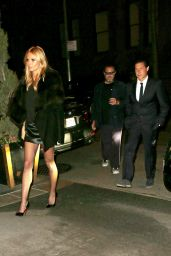 Heidi Klum With Boyfriend Vito Schnabel - Outside the Caryle Hotel in New York, April 2015