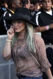 Hilary Duff – 2015 Coachella Music Festival, Day 3, Empire Polo Grounds, Indio