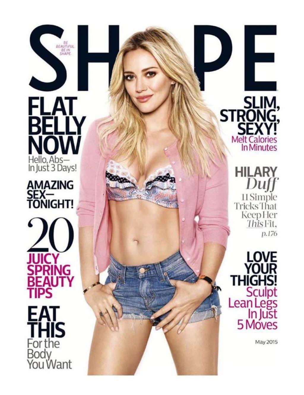 Hilary Duff shape magazine
