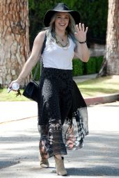 Hilary Duff Stye - Out in Beverly Hills, April 2015