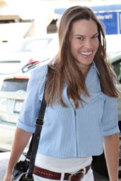 Hilary Swank - at LAX Airport, April 2015