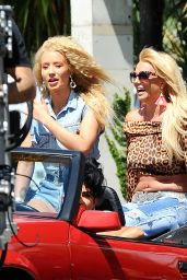 Iggy Azalea - On the Set of a Music Video in Studio City, April 2015