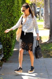 Jamie Chung Leaving Her House in West Hollywood, April 2015