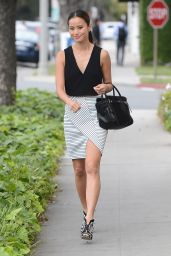 Jamie Chung Spring Street Style - Out in Beverly Hills, April 2015