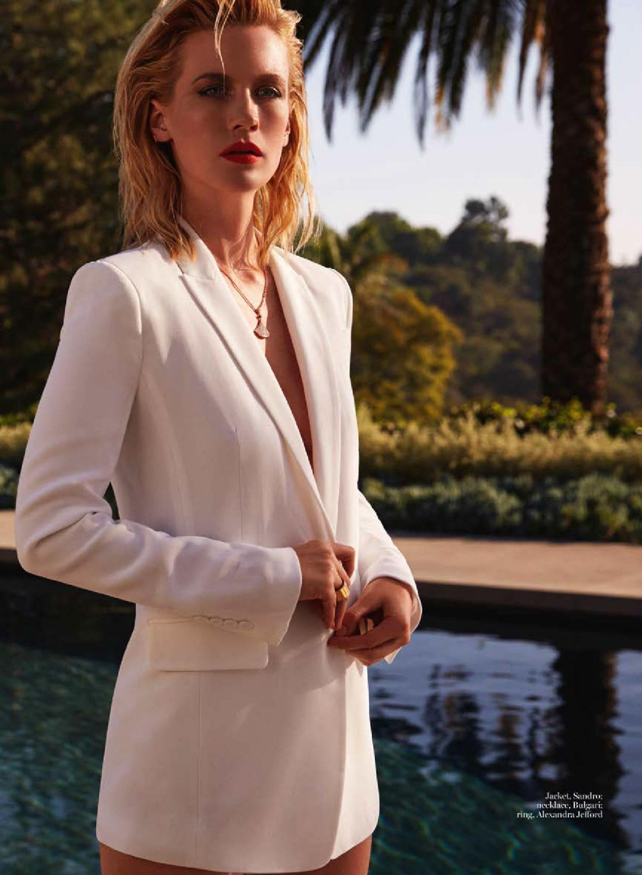 January Jones Marie Claire Magazine Uk May 2015 Issue
