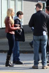 Jennifer Morrison - On the set of Once Upon a Time in Richmond - April 2015