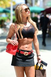Jennifer Nicole Lee Shows Off Her Body - Out in Miami, April 2015