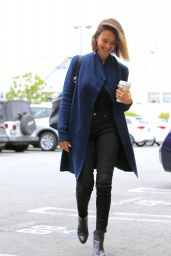 Jessica Alba - Going to Her Company in Santa Monica, April 2015