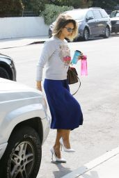Jessica Alba - Hits the Studio in Venice, April 2015