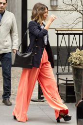 Jessica Alba - Leaving Her Hotel in New York City - April 2015
