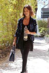 Jessica Alba - out in Santa Monica, April 2015