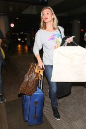 Joanna Krupa in Jeans - LAX Airport, April 2015