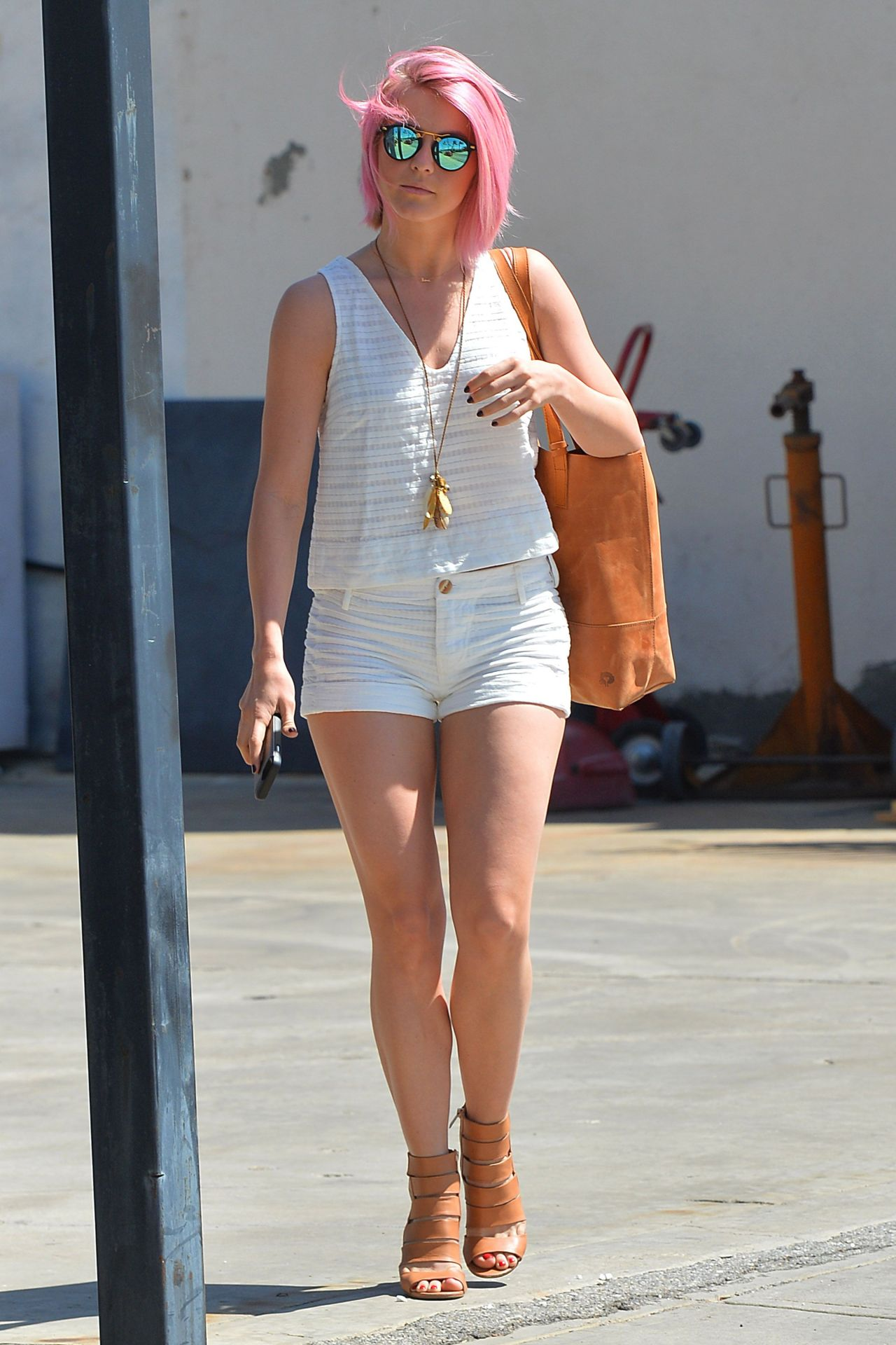 Julianne Hough Shows Off Her Legs In Shorts Out In Los