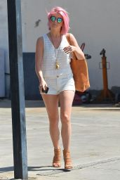 Julianne Hough Shows Off Her Legs in Shorts - Out in Los Angeles, April 2015