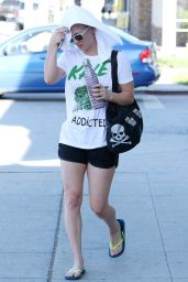 Kaley Cuoco - Leaving Yoga Class in LA, April 2015