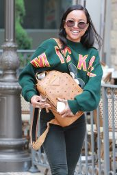 Karrueche Tran Casual Style - Stroll in Los Angeles, April 2015