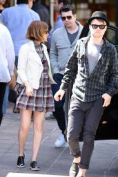Kate Mara Lunching With Her Cousin in Los Angeles, April 2015