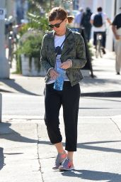 Kate Mara Street Style - Leaving a Gym in Los Angeles, April 2015
