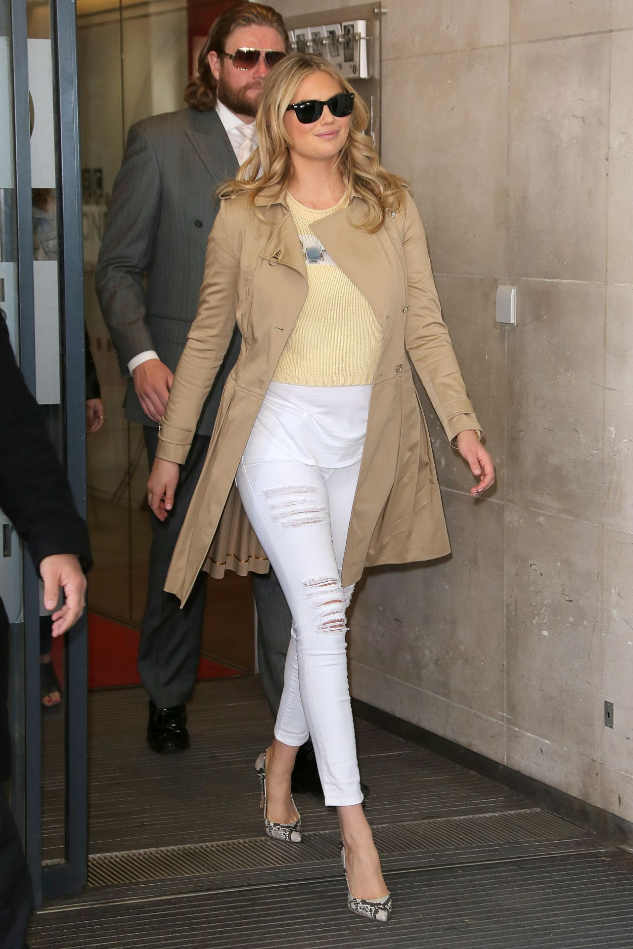 Kate Upton Street Fashion At Bbc Radio 1 In London April 2015